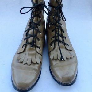 Vintage Tan Leather Roper Artillery Men's Boots